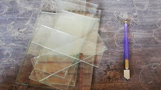 How to Cut Glass at home - Glass Cutting