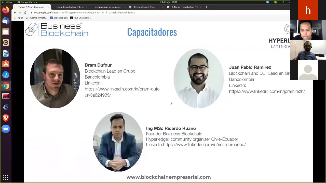Sesión 1: Curso desarrollador Blockchain en Hyperledger Fabric