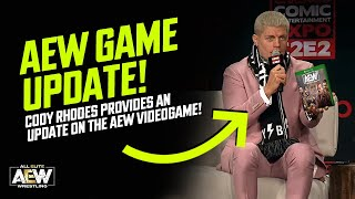 Cody Rhodes gives an update on the AEW Videogame! (AEW Game News)