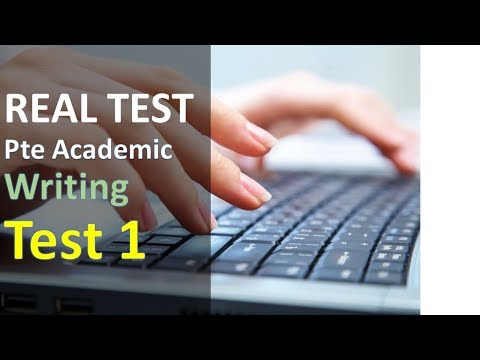 PTE Practice | Mock Test | Writing 1 from real test questions with sample answers