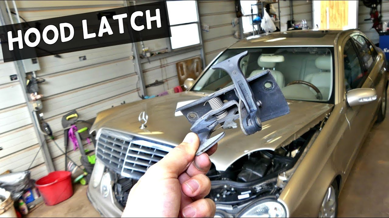 Mercedes w211 hood latch removal replacement youtube for Mercedes benz hood replacement