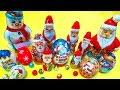 Christmas surprise eggs and toys - Santa Claus Kinder chocolate snowman surprises for kids