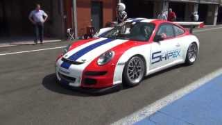 Spa - Thems Racing - Trackday 25 April 2013 - Porsche GT3 Cup - start from pitlane