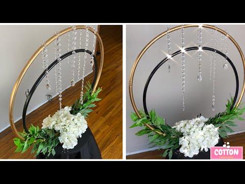 DIY: Elegant Hula Hoop Centerpiece | Dollar Tree Wedding Decorations | Bridal Shower