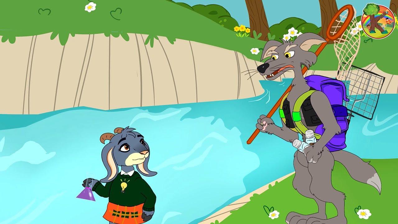 Волк и семеро козлят Козленок - Козленок-изобретатель Рыбалка | KONDOSAN