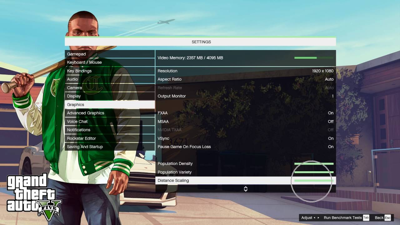 How To Change Distance Scaling In GTA V
