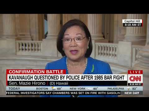 "Sen. Hirono (D-HI) Asked About Kavanaugh Throwing Ice: ""This Is Why We Need An FBI Investigation�"