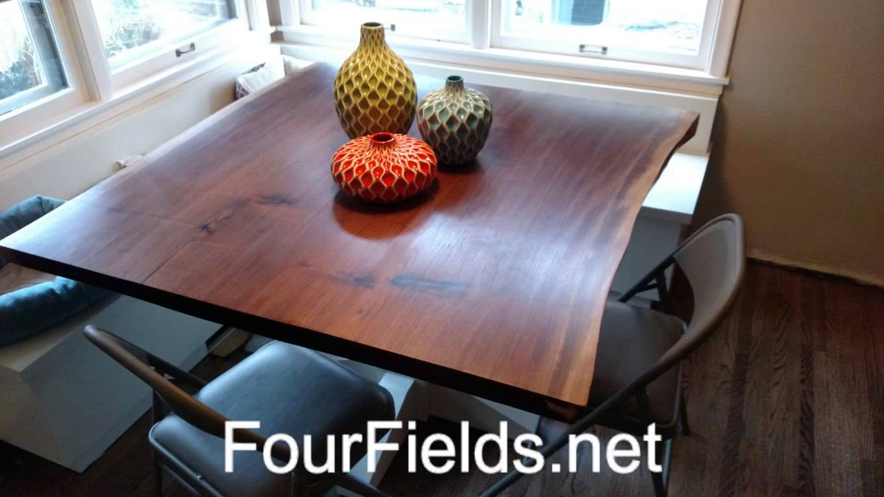 Custom Live Edge Slab Furniture MN   Four Fields Furniture   St Paul And  Minneapolis 55118   YouTube