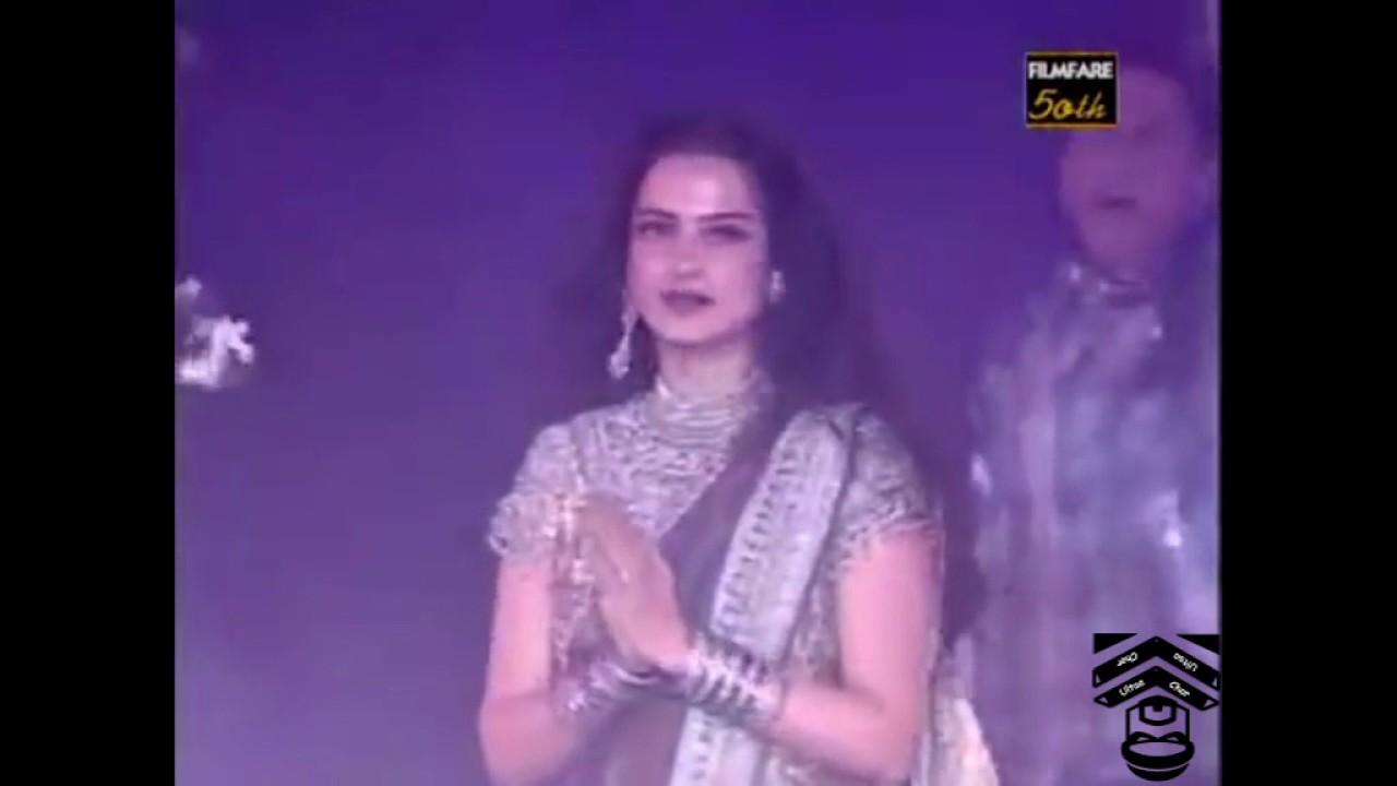 50th FilmFare m Rekha k Sath Jabardasti Dance #1