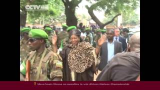 Central African Republic President tours the country in a bid to restore peace