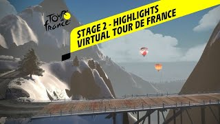 Virtual Tour De France 2020 - Stage 2 : Highlights