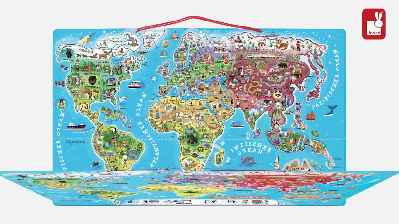 Janod Puzzle Jeu Youtube Monde Magnétique u1JK3lF5Tc