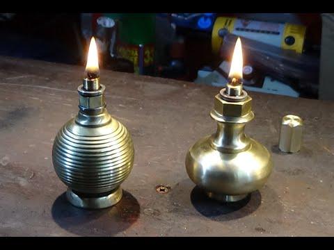 Make Lovely Long Burn Brass Oil Lamps. A Brass Door Knob Hack