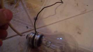 электрическая дуга в лампе