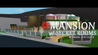ROBLOX | Welcome To Bloxburg | This Mansion has SECRET rooms | Build Ideas #2