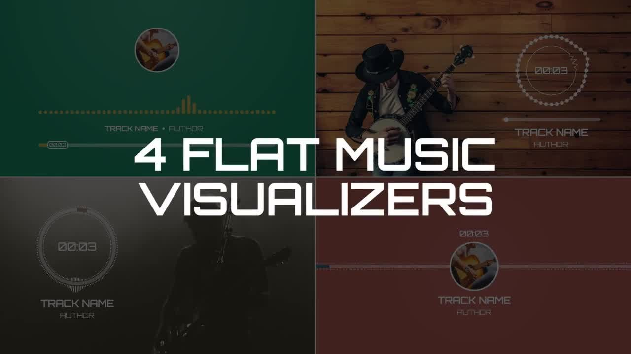 Flat Music Visualizers After Effects Templates