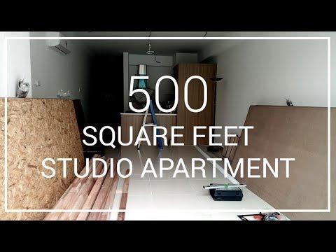 500 Square Feet Studio Apartment - DIY Home Apartment Renovation