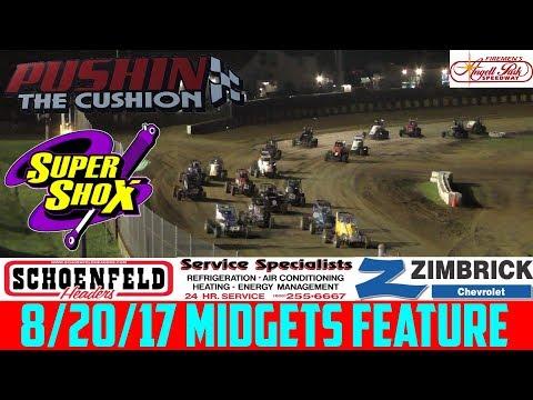 Angell Park Speedway - 8/20/17 - Midgets - Feature