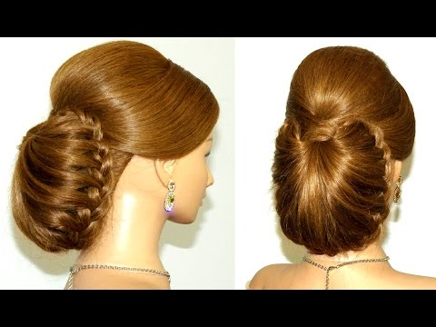 Braided updo  hairstyle for long hair tutorial