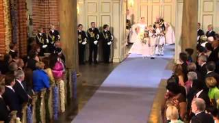 Royal Wedding, Sweden - Crown Princess Victoria walks down the aisle.