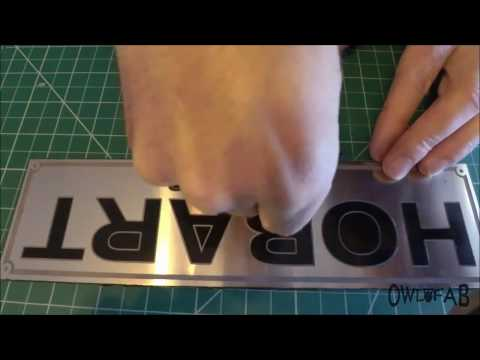 Etching Aluminum Name Plates