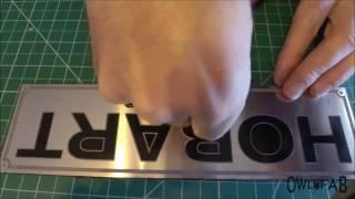 Etching Aluminum Name Plates