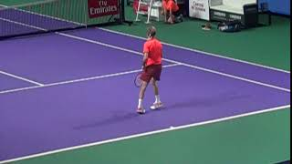 Рублев подача. Andrey Rublev Serve slow motion