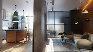 Apartment decor and interior design in LOFT style, studio apartment decor
