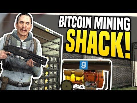 BITCOIN MINING SHACK - Gmod DarkRP | Hidden Bitcoin Base!
