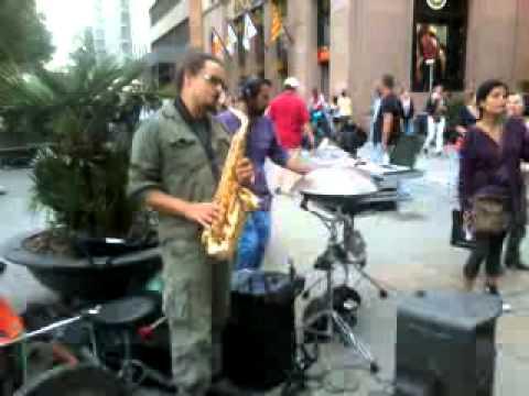 Minimal Acoustic Band con sax (MAB) en Barcelona