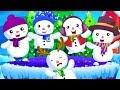 Five Little Snow Man | Nursery rhymes for kids in kindergarten