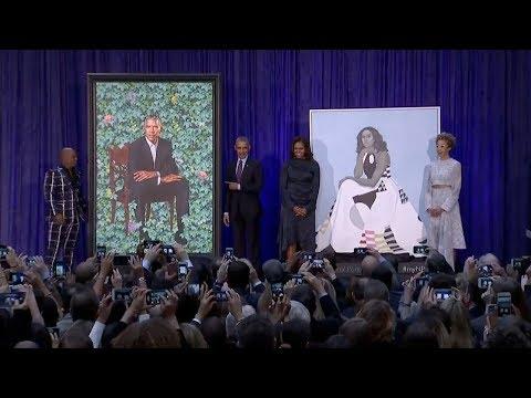 Obamas' Official Portraits UnveiledAt The National Portrait Gallery