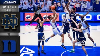 Notre Dame vs. Duke Condensed Game | 2020-21 ACC Men's Basketball