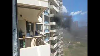 Marco Polo building fire unit view (Video: Joel Horiguchi)