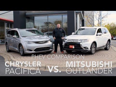(4K) New 2018 Mitsubishi Outlander PHEV vs 2018 Chrysler Pacifica Hybrid White Bear Mitsubishi