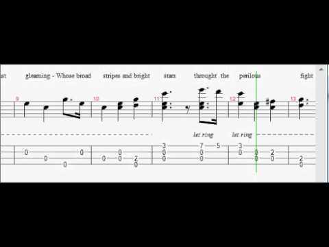 Fingerstyle Ukulele Star Spangled Banner Tabs Youtube