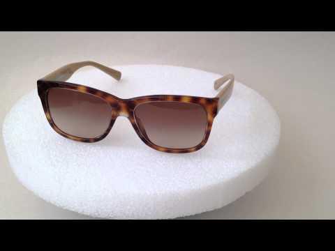 Dolce&Gabbana D&G Logo Print Wayfarer Sunglasses brown Havana and tan frame brown gradient dg4158P