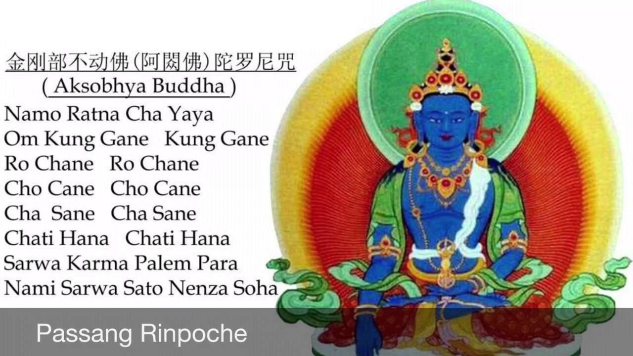 Passang Rinpoche chants Aksobhya Buddha Mantra