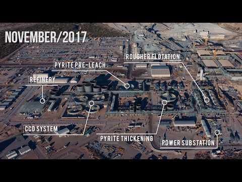Peñasquito's Pyrite Leach Project - Construction Time Lapse 2017