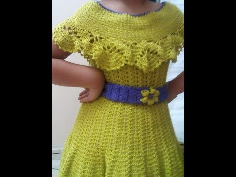 addf2f87b0c92 كروشيه طريقه عمل فستان وبلوزه كروشيه للبنات بأى مقاس Crochet dress and  blouse for girls
