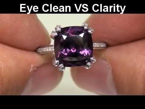 NEAR FLAWLESS Purple Ceylon Spinel & Diamond Cocktail Ring 14K Gold