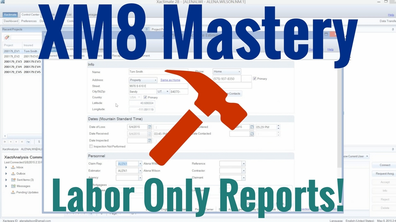 Labor Only Report in Xactimate