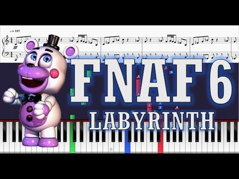 Labyrinth (FNAF 6) -  CG5 and Friends - Piano Cover w/ Sheets