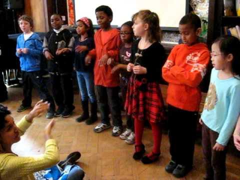 Manhattan Country School students sing en espanol - April 2011