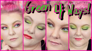 4 Makeup Looks Incorporating Lime Green Eyeshadow! // KVD Electric Warrior! | Lauren Mae Beauty