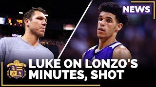 Luke Walton On Lonzo Ball
