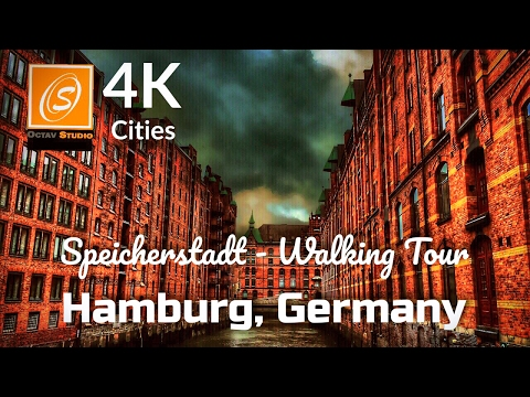 Speicherstadt Walking Tour, Hamburg, Germany 4k UHD