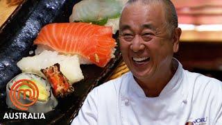 Chef Nobu Matsuhisa&#39s Sushi Pressure Test  MasterChef Australia  MasterChef World