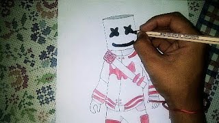 Disegno marshmallow skin (fortnite)/DRAWING SKIN MARSHMALLOW (Fortnite)