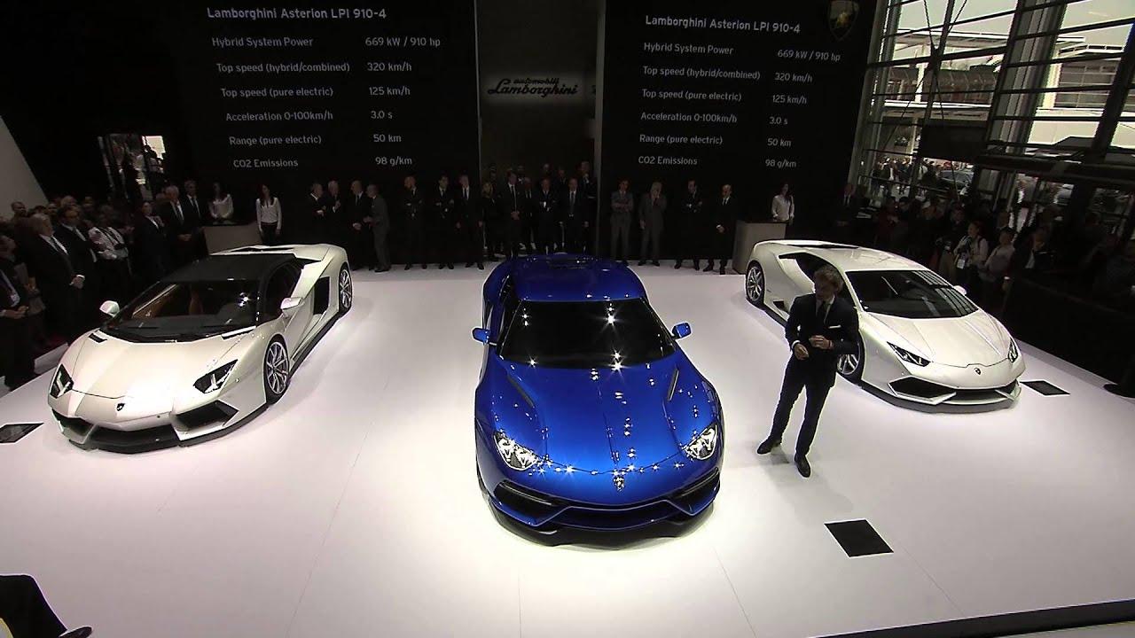 Lamborghini Asterion at Mondial de l'Automobile 2014 - Press Conference